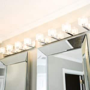 bathroom wall lighting above mirrors and vanity