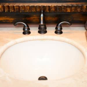 bathroom sink countertop brushed bronze faucet