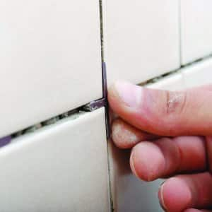 bathroom tile grout line spacer (Photo by Angie's List)