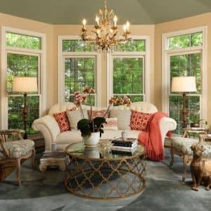 sunroom floor to ceiling bow windows