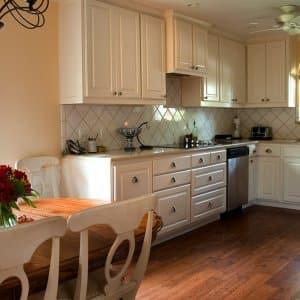 brightened kitchen remodel