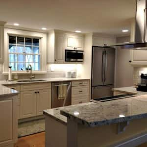 Kitchen Cabinets Remodel Lighting Island Hood Stainless Steel