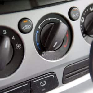 Picture of a car temperature controls