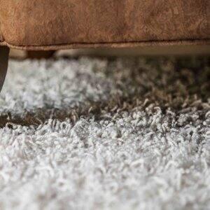 Carpet under furniture