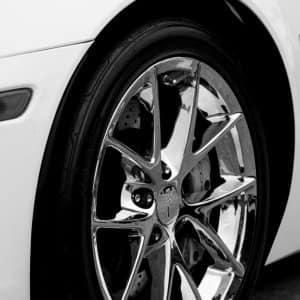 Chrome car rim