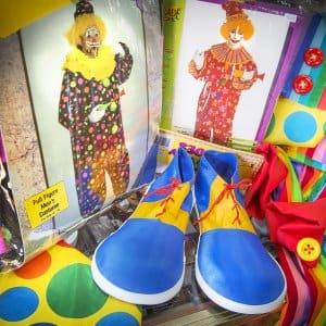 clown feet and clown costumes