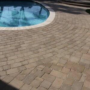 custom pavers pool drainage