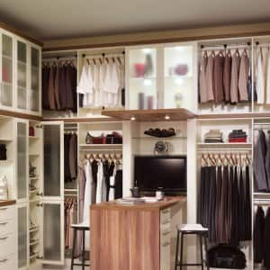 Superieur Custom Closet System With Shelving And A Desk