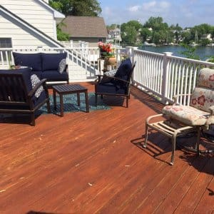 new wood deck