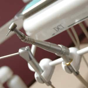 dental instruments on display.