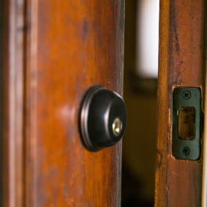 deadbolt lock (Photo by Brandon Smith)