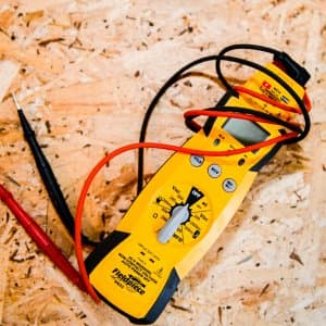 professional electrician's voltage meter