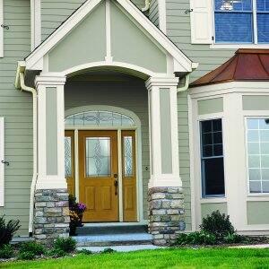 Pella front door with sidelights
