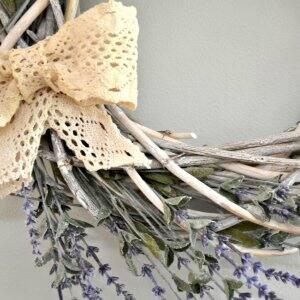 farmhouse spring wreath with bow