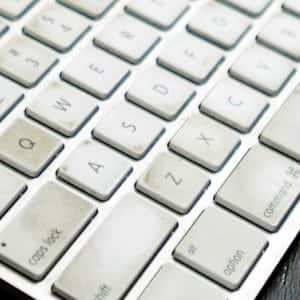 """Don't neglect to clean your computer's keyboard every once in a while — add """"can of compressed air"""" to the grocery list. (Photo by Summer Galyan)"""