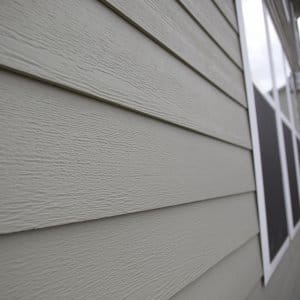 fiber cement siding on home (Photo by Eldon Lindsay)