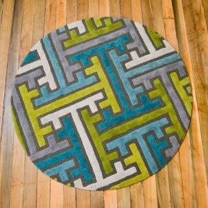 contemporary floor rug on hardwood