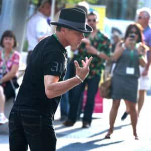 man dancing in street