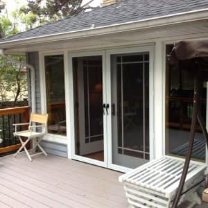 French doors on patio