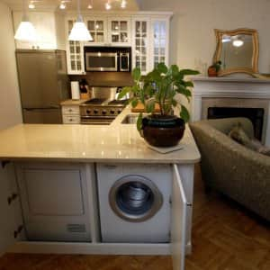 Washer and dryer under counter