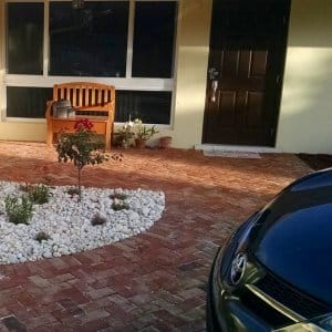 front walkway made of pavers