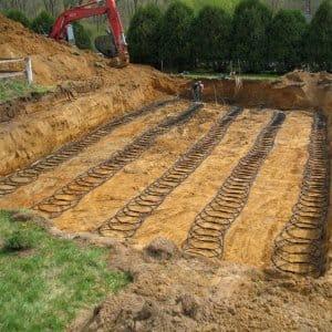Geothermal loops in ground