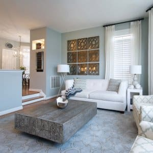 gray beach inspired living room