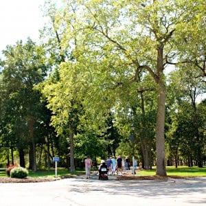 green space trail at senior living facility