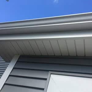 Gutters on house