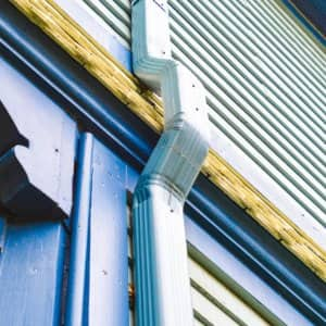 Downspouts on a house