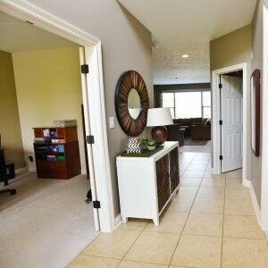 beige painted hallway in home