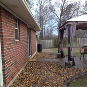 Hard materials such as rock, stone, concrete and pavers require no replacement and can be a very helpful addition to your landscape, says Sadree. (Photo courtesy of Angie's List member Michele B. of Tyler, Texas)