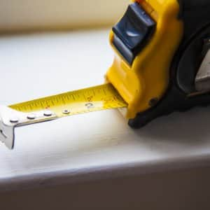 tape measure used by handyman