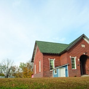 historic schoolhouse remodeled into a home