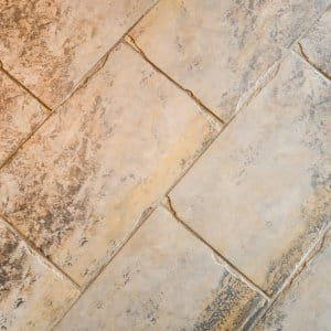 floor tile with clean grout lines