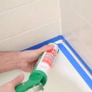 recaulking shower, tub