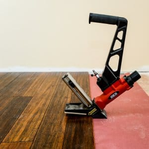 A Room Having Hardwood Flooring Installed.