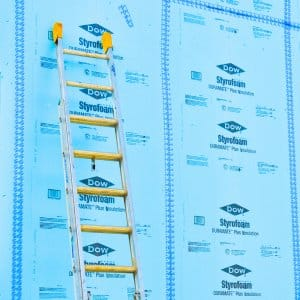 Home insulation and ladder