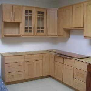 unfinished cabinet installation