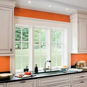 triple pane windows in home kitchen