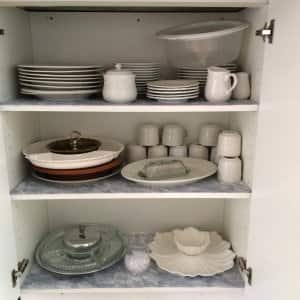 packing the kitchen for a move