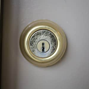 deadbolt door lock (Photo by Eldon Lindsay)