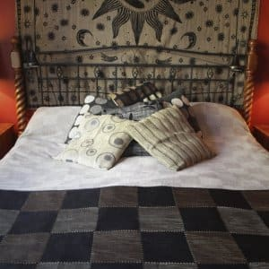 A made bed