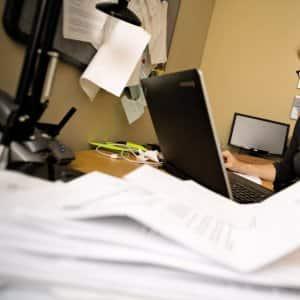 Insurance paperwork being reviewed