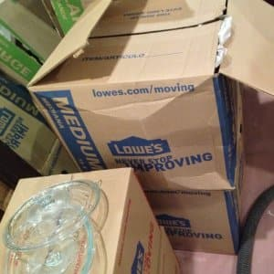 Moving boxes in a pile