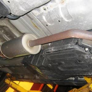 After the dealer fixed a brake sensor under warranty, the mechanic wanted to make an expensive, unnecessary repair to the muffler. (Photo courtesy of Angie's List member Kenneth B. of Cincinnati)