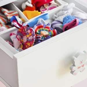 organized kids dresser drawer