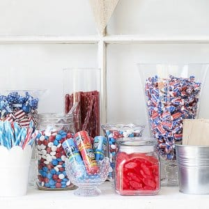 patriotic candy buffet