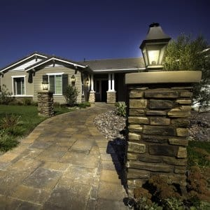 Paver driveways and walkways create visual impact when visitors (or potential buyers) come to your home. (Photo courtesy of Go Pavers)
