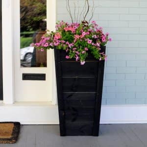 planter on front porch